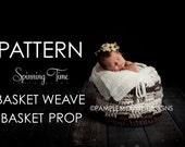 Instant download CROCHET  Pattern basket weave PROP Stuffer Newborn basket. Pattern.