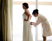 Four Bridesmaid Robes.  CUSTOM.  Kimono Robe. Getting Ready Robes.  Bridal Shower Gift.  Bridal Robe.  Choose your fabric.  Knee Length.