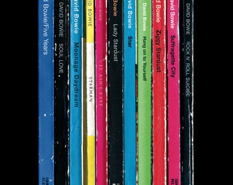 David Bowie 'Ziggy Stardust' Album As Penguin Books Poster Literary Music Print