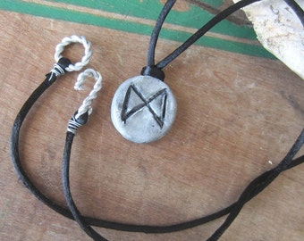rune necklace DAGAZ pendant runes wicca wiccan jewelry pagan witchcraft elder futhark witchy jewelry viking runes occult mystical jewelry