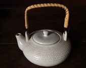 Vintage French white tea pot teapot circa 1960's / English Shop