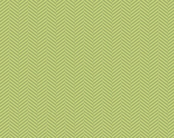Green Herringbone from the Apple Of My Eye Collection by The Quilted Fish for Riley Blake