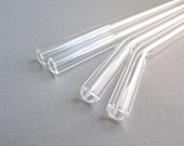 Single Clear Glass Straw- Straight or Bent- Short to Extra Long Lengths