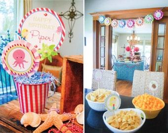 Mermaid Birthday, Mermaid Birthday Party, Mermaid Invitation, Mermaid Printables, Mermaid Birthday Decorations, Lauren Haddox Designs