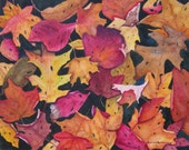 Autumn Leaves Painting, Fall Leaves Print, Fall Watercolor, Tree Leaves Wall Art, Rustic Autumn Home Decor Gift, Autumn Leaves Art Oak Maple