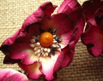 Paper poppy flowers - set of 12