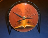 The Bible  Recycled CD Clock Art