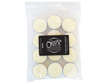 Monk - Lavender and Orange Scented - 12 Pack Soy Wax and Essential Oil Tea Lights
