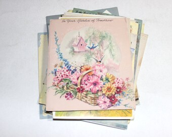 20 Vintage Greeting Card Variety Pack - Mixed Media, Altered Art, Collage, Art Journal, Scrapbooking Supplies