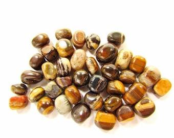 38 Zebra Jade Nugget Beads / Med Nuggets