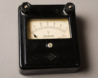 Antique Voltameter, black bakelite case, 1960