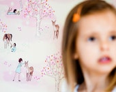Sarah Jane Wander Woods WALLPAPER -Removable, Re-usable, FABRIC, Eco-Friendly, Non-Toxic. Easy Application. No Mess. No Glue Pop & Lolli