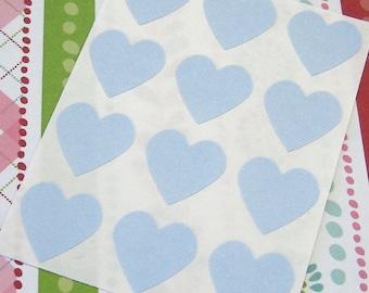 108 Heart Sticker Seals Baby Blue 3/4 inch