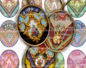 Ovals for Pendants Digital Collage Sheet Download Rococo Eggs 30 x 40 mm DIY Jewelry Crafting Antique Locket Necklaces 567