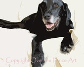 Labrador Holiday Card Sets of 5 Handcrafted Greeting Cards BLACK LABRADORS Series Fine Art and Photography