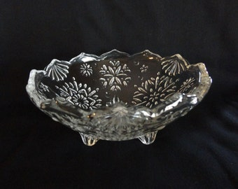 MIKASA Snowflake Design Vintage Candy Bowl  Made in Germany