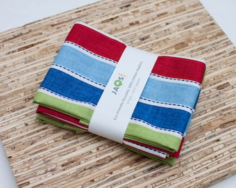 Large Cloth Napkins - Set of 4 - (N1832) - Stripes Modern Reusable Fabric Napkins