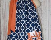 Auburn War Eagle Pillowcase Dress