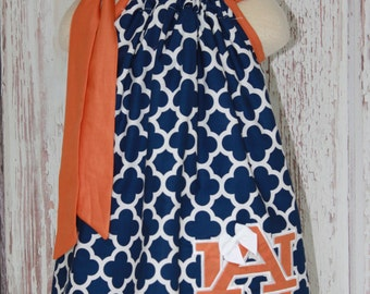 Auburn War Eagle Pillowcase Dress