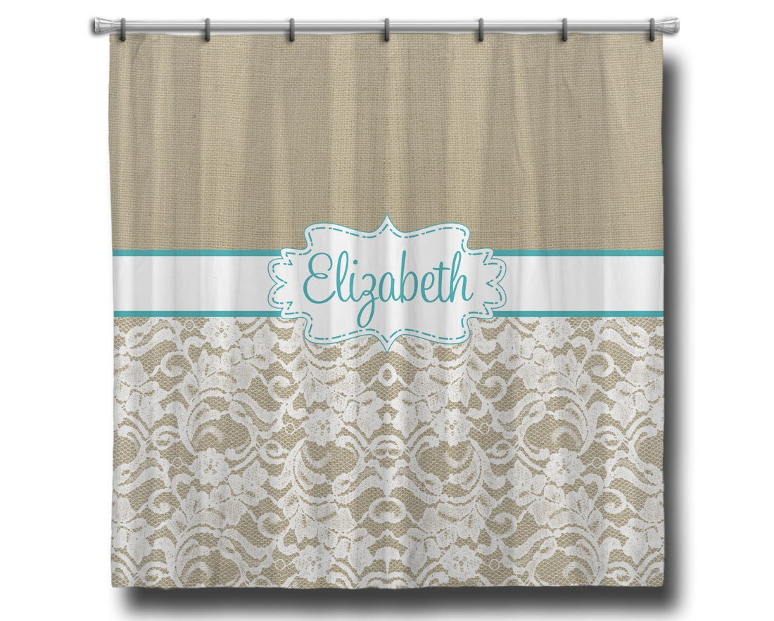 Custom Personalized Monogram Shower Curtain 70 X