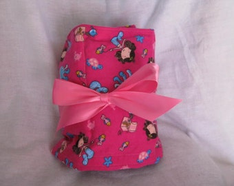 Mermaid and Sea Life Car Seat Cooler in Bright Pink