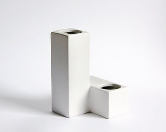 Mid Century White Cor Unum Vase (6)  - Dutch Pottery c.70s 80s