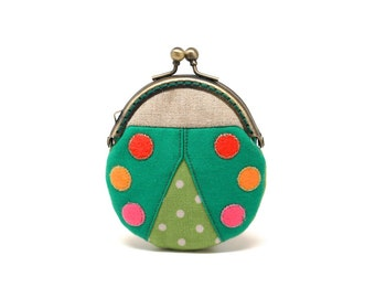 Magical everglade beetle mini coin purse
