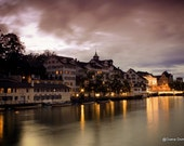 Twilight in Zurich  Photography Switzerland, lights, city streets, european, travel, color wall decor, home decor