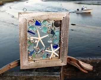 Sea Glass Star Fish Window