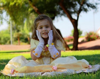 Deluxe Belle Yellow Ballgown Disney Princess Dress Size 5T Beauty and the Beast costume