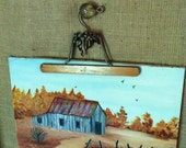 Folk Art Country Barn Scene OOAK Original Painting