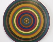 "Ring Painting, Oil on Round Panel - 20"" diameter #85"