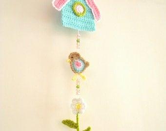 Crochet Birdhouse Garland - DIY - PDF Pattern - Wall Hanging - Bird  Decor Nursery Decoration - Tutorial - Download Immediately, Digital