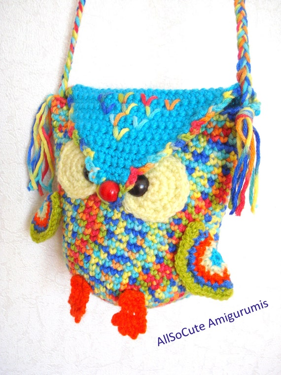 Crochet Bag For Girl : Crochet Bag Pattern Girls Purse, INSTANT DOWNLOAD PDF, Crochet Owl ...