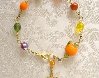Autumn Colors Anglican Rosary Bracelet
