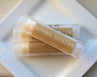 CREME BRULEE Vegan  Lip Balm, Natural and Organic .15oz Tube