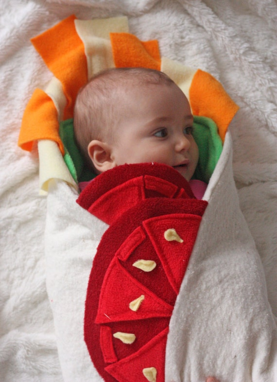 Baby Halloween Costume- Baby Shower Gift, Burrito Baby Blanket, Unique Baby Blanket, Swaddle Blanket, Newborn Halloween Costume