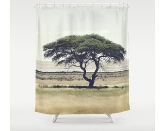 African Tree Photography Shower Curtain