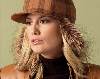 Womens Hat Pattern Uncut Sewing Pattern McCalls M6851 Brimmed Hats, Lumberjack Hats, Newsboy Caps, Fedora, Baseball Cap, Deerstalker, Hunter