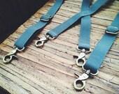 Industrial Suspenders || Trouser Braces || Navy Gray Olive Maroon Black