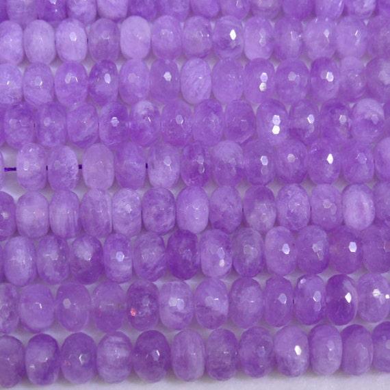 7x12mm Rondelle Cut Amethyst Bead Semiprecious Gemstone Bead StringWholesale BeadsStrand- 15''L Jewelry Supply Wholesale Beads