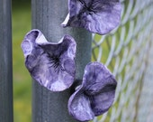 Periwinkle and Purple Pansy Flower Magnets great for the office!