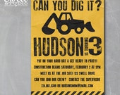 Can You Dig It - Construction Themed 5x7 DIY Printable Birthday Party Invitation
