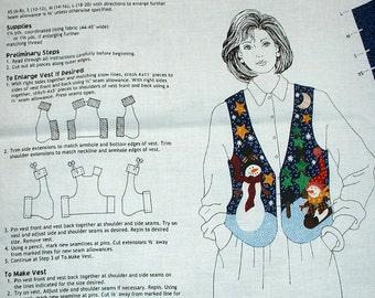 Snowman Christmas Vest Panel