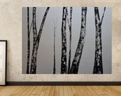 Made To Order-Choose Size-Choose Color-Original Black and White Art Bare Aspens by MyImaginationIsYours