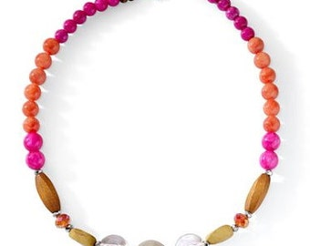 Hot Pink and Orange Necklace