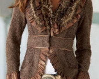 Faux Fur Boucle Sweater / Jacket