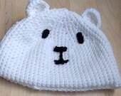 Kids Polar Bear Hat, Animal Beanie