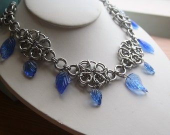 Falling Leaves Chainmaille Necklace Your Choice of 5 Colors