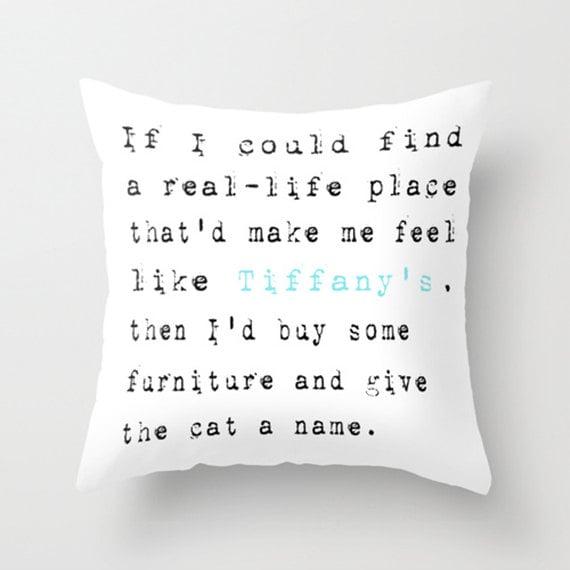 Throw Pillow Cover - Breakfast at Tiffany's - Audrey Hepburn - 16x16, 18x18, 20x20 - Nursery Bedroom Original Design Home Décor by Adidit